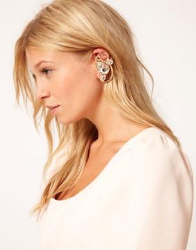 ASOS Crystal Scroll Ear Cuff