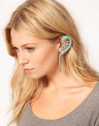 ASOS Pastel Rainbow Ear Cuff