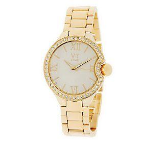Bold Pave' Case Bracelet Watch by VT Luxe