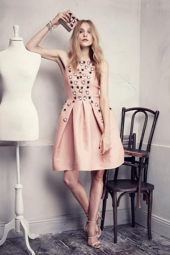 Pink Embellished Dress
