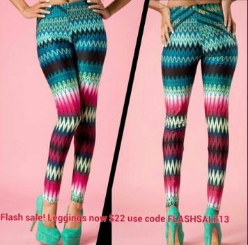 zigzag-print-leggings