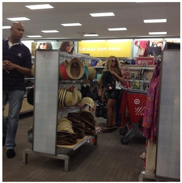 Beyonce shopping in Target in Houston