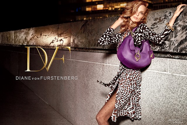 Carine Roitfeld styles Fall 2013 DVF Campaign
