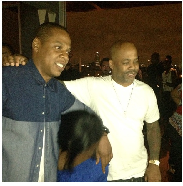 Jay Z and former Roc-a-fella executive Damon Dash share a photo
