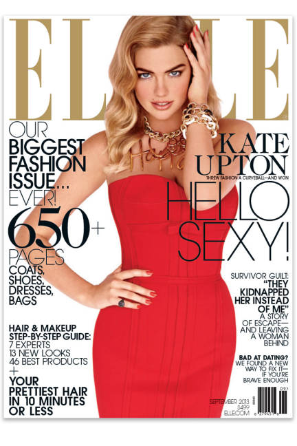 Kate Upton Cover Elle September 2013 Cover