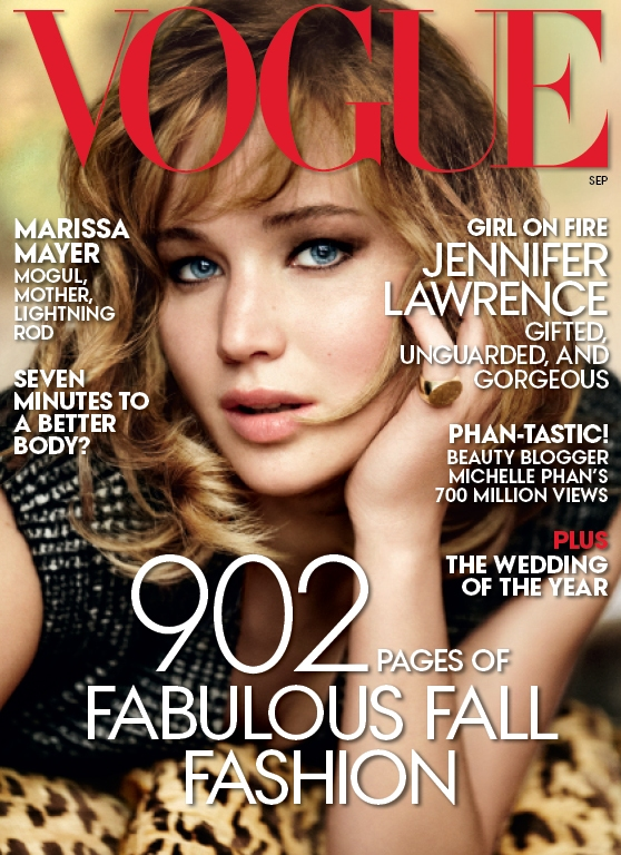 Jennifer Lawrence Covers Vogue September 2013 Issue