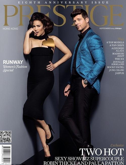 Paula Patton and Robin Thicke cover Prestige Magazine
