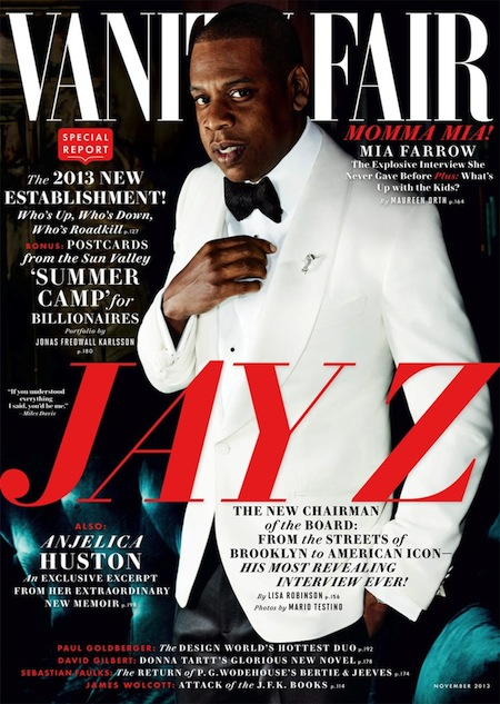 Jay Z covers Vanity Fair November 2013 issue
