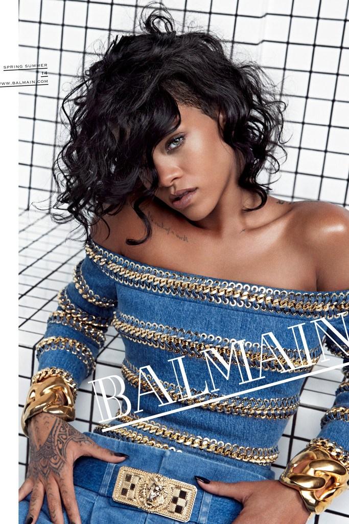 Rihanna face of Balmain Spring 2014