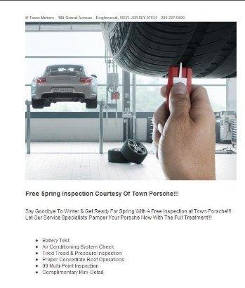 Town Porsche Free Spring Inspection