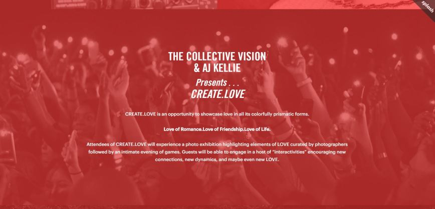 Create Love Landing Page